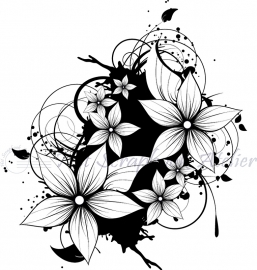 HP Stempel 70f, 7 bloemen op inktspetter