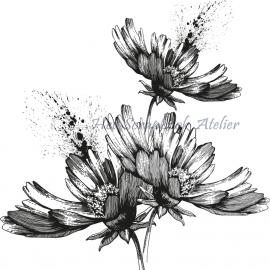 HP Stempel 55c Spatjes bloemen