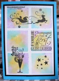 HP Stempel 79g, Champagneglas met swirls