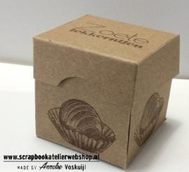 Workshop pakketje Bonbondoosje en een M&M tagtasje maken en bestempelen