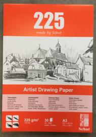 Schut Tekenpapierblok, 225 grams, A3, 30 vellen