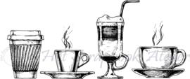 HP Stempel 93e, 4 koffie op rij