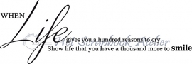 HP Stempel 61a, When life......... smile