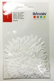 Bestempelbare bloemen wit, 24 stuks