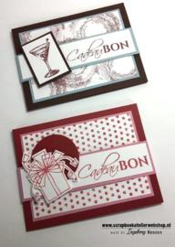 Workshoppakket cadeaubonkaart met band en pocket