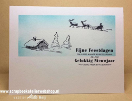 HP Stempel 29g Winter/ kerst afbeeldingen 7 stuks
