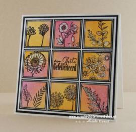 HP Stempel 102c, stempelset kleine bloemetjes