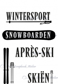 HP Stempel 2i Set 4 scrapteksten ski