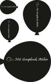 HP Stempel 75l, Soft Polymeer Set 4 grote ballonnen
