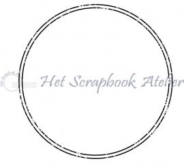 HP Stempel 68c, Cirkel, dubbele lijn, oud, 5 cm