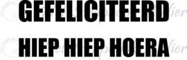 HP Stempel 75f, Soft polymeer  medium tekst Hiep Hiep