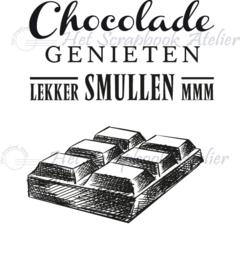 HP Stempel 93h, chocolade met chocolade tekst