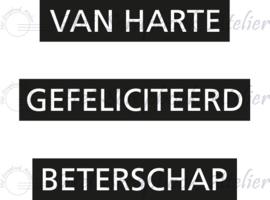 """HP Stempel 96a, Van Harte Teksten """"Dymo Style"""""""