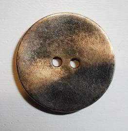 Knoop groot, zilverkleurig, doorsnede 2,3 cm