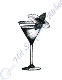 HP Stempel 115j, Cocktailglas mini: 2,1 cm hoog