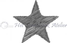 HP Stempel 44b Streepjes ster