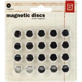 Magnetic discs , 10+ en 10-, doorsnede 1 cm