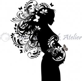 HP Stempel 12c Zwangere vrouw