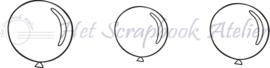 HP Stempel 35o, 3 mini ballonnen