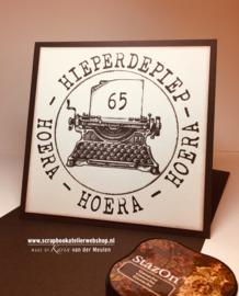 HP Stempel 28 d, alfabet 12 mm hoog, typewriter