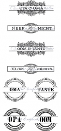 HP Stempel 1c Familieset opa/oma