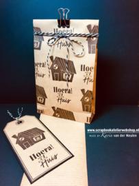 Workshop pakketje cadeau zakjes maken en bestempelen