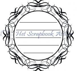 HP Stempel 24c Tekstkader rond sierlijk
