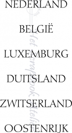 HP Stempel 23b Set 6 tekstjes Nederland