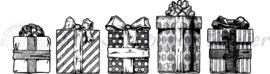 HP Stempel 79j, 5 Cadeautjes op rij