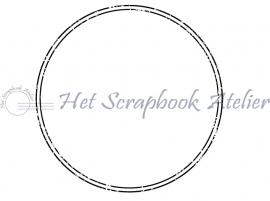 HP Stempel 68a, Cirkel, dubbele lijn, oud, 4 cm