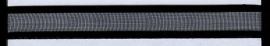 Organza lint col.100 zwart 10 mm x 1 m