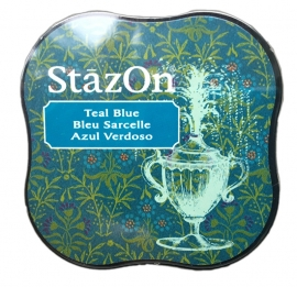 Stazon- Midi- Teal Blue