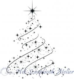 HP Stempel 29b Kerstboom sierlijk