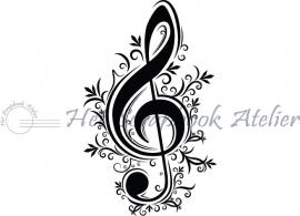 HP Stempel 43a Muziek sleutel