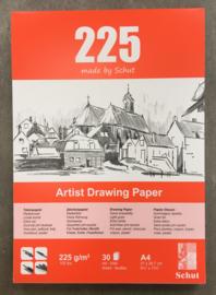 Schut tekenpapierblok, 225 grams, A4, 30 vellen