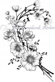 HP Stempel 76a, Bosje bloemen