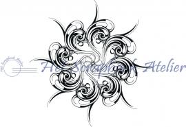 HP Stempel 26b Design bloem, met minibloem