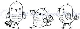 HP Stempel 108b, vogeltjes trio