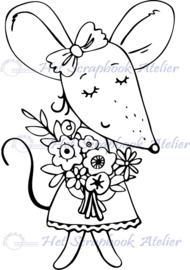 HP Stempel 108e3, Muis met bosje bloemen