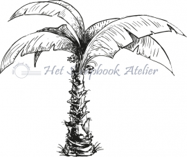 HP Stempel 54a Palmboom enkel