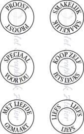 HP Stempel 51i, eyelettekstjes cadeautags