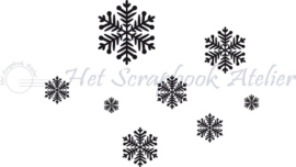 Hp Stempel 44j, Sneeuwvlokjes mini background