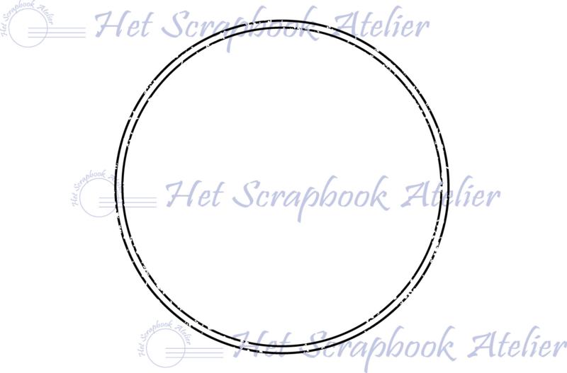 HP Stempel 68h, Cirkel dubbele lijn oud 6,5 cm