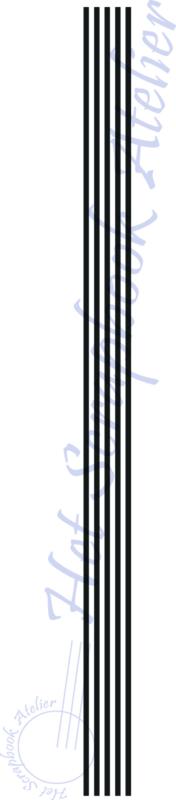 HP Stempel 75m3, border 5 dunne lijnen