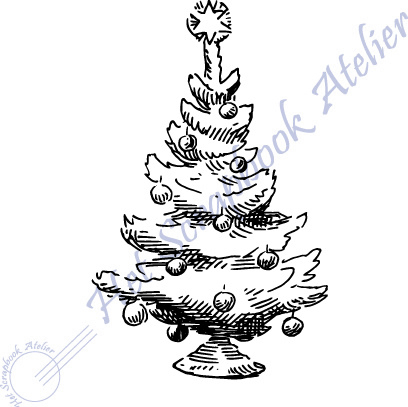 HP Stempel 100a, Kerstboom mini