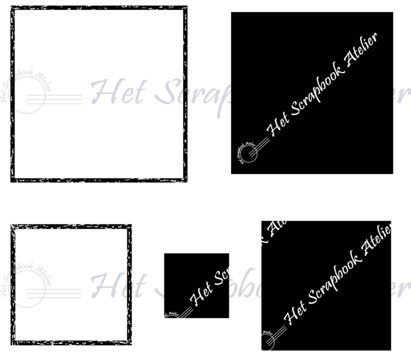 HP Stempel 75 g, soft polymeerset 5 vierkanten