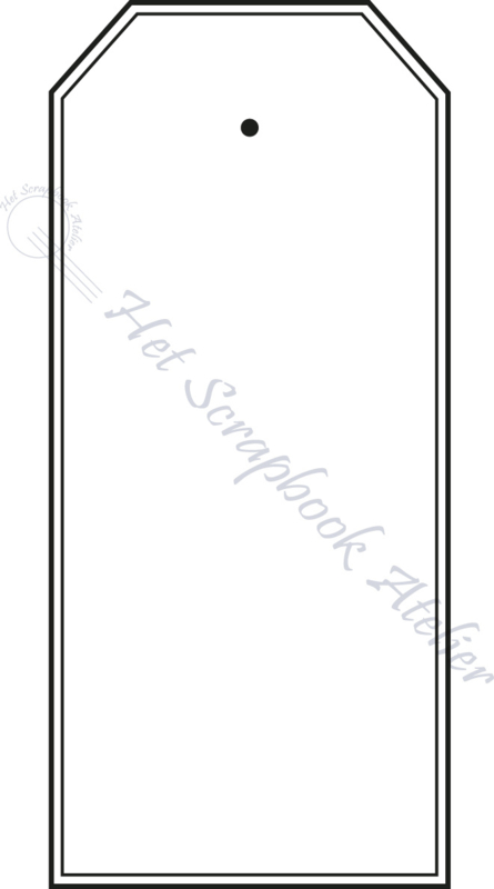 HP Stempel 51o,  tag dubbele lijn strak medium