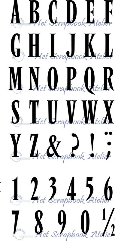 HP Stempel 28a Alfabet en cijfers