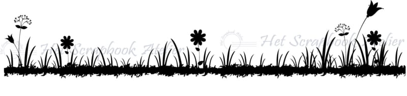 HP Stempel 77e, Gras/bloemenborder 12 cm