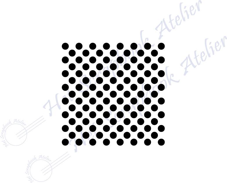 HP Stempel 118a5, vierkantje 3x3 cm: stipjes